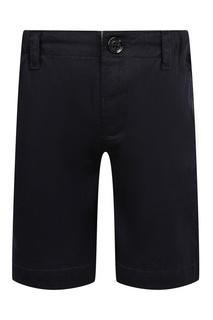 Черные шорты с эластичным поясом Burberry Children