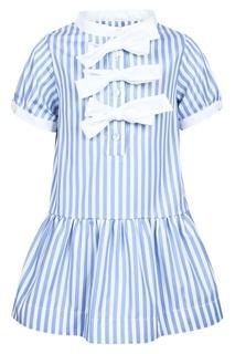 Платье в полоску с белыми бантами Simonetta Mini