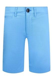 Голубые хлопковые шорты Burberry Children