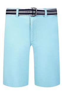 Голубые шорты с ремнем Ralph Lauren Children