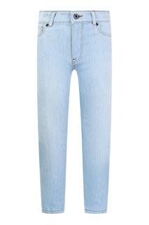 Прямые голубые джинсы Burberry Children