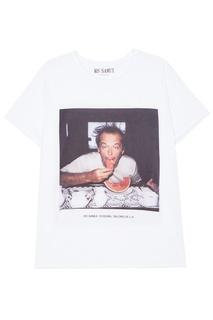 Белая футболка с фотопринтом Watermelon KO Samui