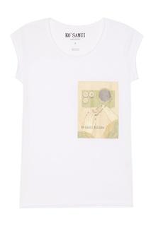 Белая футболка с принтом Sushi KO Samui