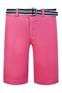 Розовые шорты с контрастным ремнем Ralph Lauren Children