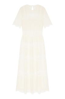 Платье из сетки с кружевом Laroom