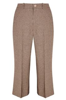 Льняные брюки в клетку Gucci