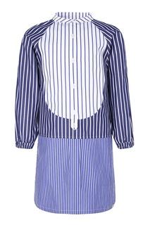 Комбинированное платье в полоску Burberry Children