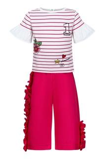 Комплект с футболкой и брюками Simonetta Mini