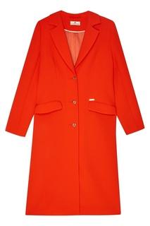 Шерстяное оранжевое пальто Laroom