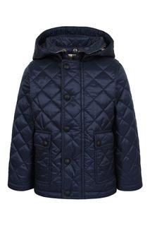 Синяя стеганая куртка Burberry Children