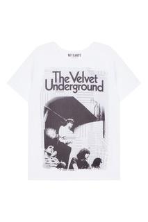 Белая футболка с принтом Velvet KO Samui