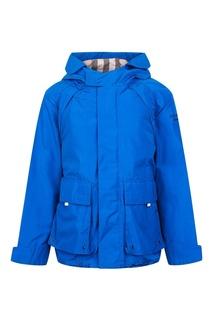 Синяя куртка с накладными карманами Burberry Children