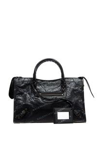 Черная кожаная сумка Classic City S Balenciaga
