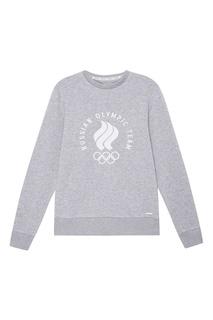 Серый свитшот с олимпийской символикой Zasport