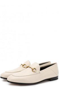 Кожаные лоферы Brixton с пряжкой-трензелем Gucci