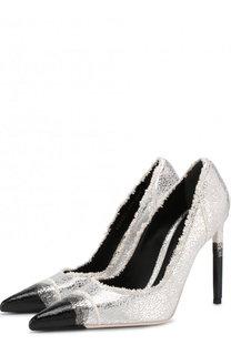Туфли Frayed из металлизированного текстиля на шпильке Tom Ford