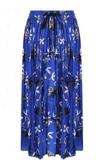 Плиссированная юбка-миди с принтом Markus Lupfer