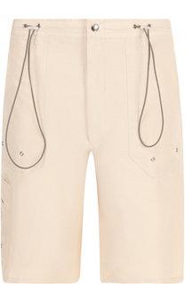 Хлопковые шорты свободного кроя с карманами Lanvin