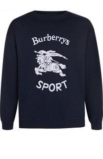 Хлопковый свитшот с аппликацией Burberry
