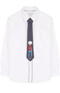Комплект из хлопковой рубашки и галстука с принтом Marc Jacobs