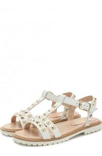 Кожаные сандалии с заклепками на ремешке Il Gufo