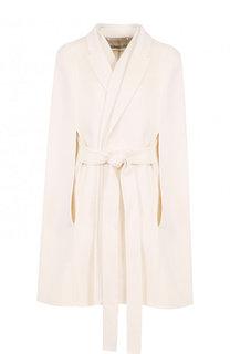 Укороченное кашемировое пальто с поясом и кейпом Givenchy