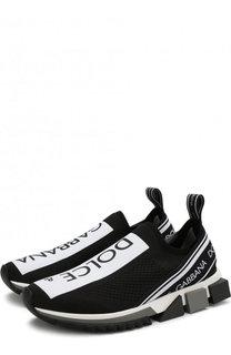 Текстильные кроссовки Sorrento с логотипом бренда Dolce & Gabbana
