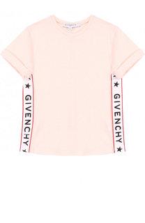 Футболка джерси с контрастной отделкой Givenchy