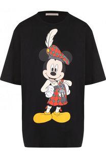 Хлопковая футболка свободного кроя с принтом Christopher Kane