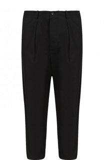 Хлопковые укороченные брюки прямого кроя Valentino
