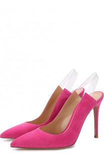 Замшевые туфли Eva на шпильке Gianvito Rossi