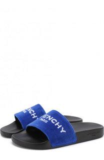 Текстильные шлепанцы с логотипом бренда Givenchy