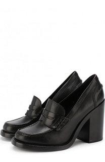 Кожаные туфли на массивном каблуке Burberry