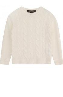 Кашемировый пуловер фактурной вязки Loro Piana