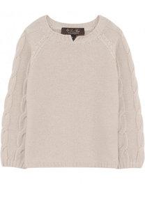 Кашемировый пуловер с фактурным узором Loro Piana