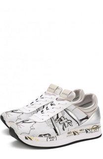 Комбинированные кроссовки Liz с вышивкой Premiata