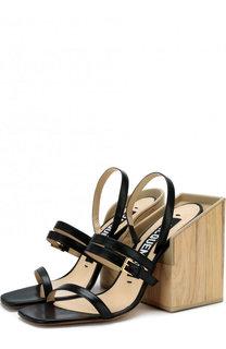 Кожаные босоножки на массивном каблуке Jacquemus
