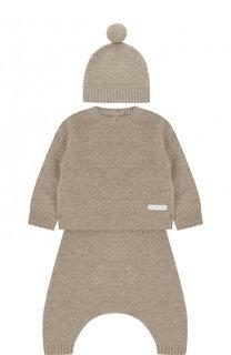 Кашемировый комплект из пуловера и брюки с шапкой Burberry