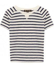 Льняная футболка в полоску Loro Piana