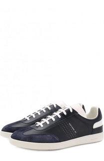 Комбинированные кеды на шнуровке Dior