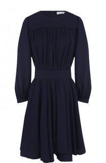 Приталенное мини-платье с длинным рукавом Chloé