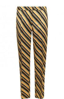 Укороченные брюки из вискозы со стрелками и принтом Dries Van Noten