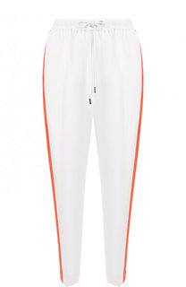 Укороченные брюки с эластичным поясом и лампасами Yohji Yamamoto