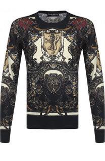 Джемпер тонкой вязки из смеси кашемира и шелка Dolce & Gabbana
