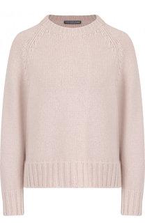 Кашемировый пуловер с круглым вырезом Alexander McQueen
