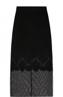 Однотонная полупрозрачная юбка-миди Dolce & Gabbana