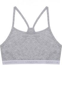 Топ с логотипом бренда Sanetta