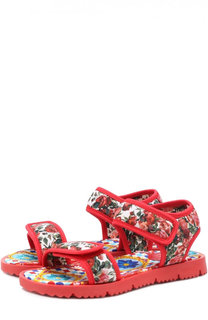 Текстильные сандалии с принтом Dolce & Gabbana