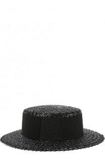 Соломенная шляпа Brigitte с повязкой Eugenia Kim