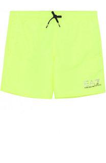 Плавки-шорты с логотипом бренда Ea 7